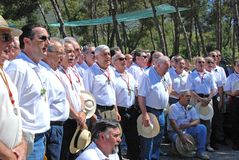 Spanish male choir, Marbella. Stock Photography