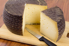 Spanish manchego cheese Stock Images