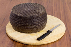 Spanish manchego cheese Royalty Free Stock Photos