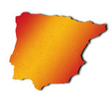 Spanish map Royalty Free Stock Photography