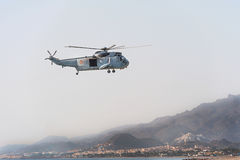 Spanish Marines Helicopter Stock Images