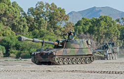 Spanish Marines Tank Royalty Free Stock Photography