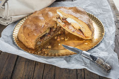 Spanish meat pie called hornazo Royalty Free Stock Image