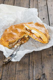 Spanish meat pie called hornazo Royalty Free Stock Photos