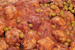 Spanish meatballs stew Stock Images