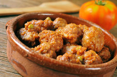 Spanish meatballs stew Royalty Free Stock Images
