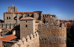 Spanish medieval town Stock Image