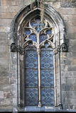 Spanish  medieval window in Barcelona Royalty Free Stock Photos