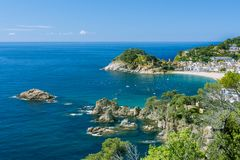 Tossa de Mar village and Castle. Royalty Free Stock Photography