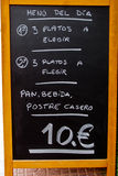 Spanish Menu Stock Photos