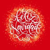 Spanish Merry Christmas Feliz Navidad wreath ornament decoration glitter snowflake Stock Photos