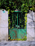 Spanish metal door. Desolated spanish rusty metal door Stock Photo