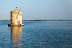 Spanish mill in the Orbetello lagoon Royalty Free Stock Image