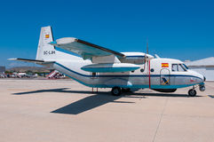 Spanish Ministry of Finance Customs Surveillance CASA C-212. ALICANTE / SPAIN - MAY 2013 Stock Photo