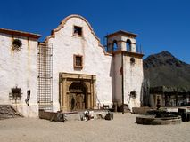 Spanish Mission. Old spanish mission in the desert Stock Photo