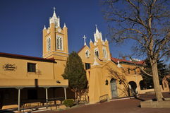 Spanish Mission. Spanish Style Mission in Downtown Albuquerque, New Mexico Stock Images