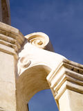 Spanish Mission Architecture. Detail of a column on a historic Spanish Mission Church Royalty Free Stock Photo