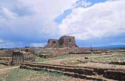 Spanish Mission ruins. Pecos National Historical Park, NM Royalty Free Stock Photos