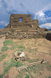 Spanish Mission ruins, Pecos National Historical Park, NM Royalty Free Stock Images