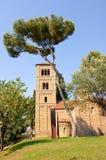 Spanish monastery. The Poble Espanyol. Barcelona. Royalty Free Stock Photos