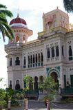 Spanish-Moorish palace in Cuba. Spanish-Moorish palace housing a seafood restaurant, historical exhibits & rooftop bar in Punta Gorda in Cienfuegos, Cuba royalty free stock photo