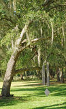 Spanish Moss and Huge Wind Chime Royalty Free Stock Images