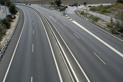 Spanish motorway Stock Photo