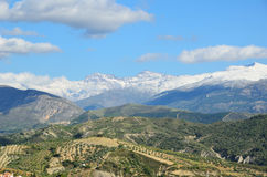 Spanish mountain Sierra Nevada in spring Royalty Free Stock Photo