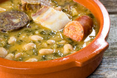 Spanish mountain stew. cocido monta��s Stock Photo