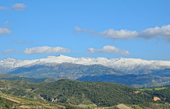 Spanish mountains Sierra Nevada in spring Royalty Free Stock Photo