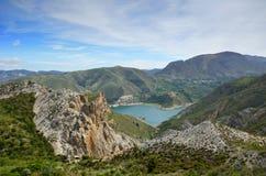 Spanish mountains Sierra Nevada in spring Stock Photo
