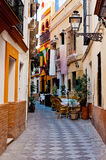 Spanish narrow alley Stock Photography