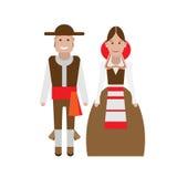 Spanish national costume. Illustration of national dress on white background Stock Image