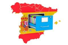 Spanish national database concept, 3D rendering. Isolated on white background Stock Photo