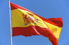 The Spanish national flag Stock Image