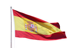 Spanish national flag Stock Photos