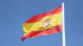 Spanish national flag stock video footage