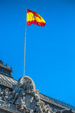 Spanish national flag. in Madrid, Spain Royalty Free Stock Photos