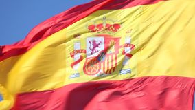 Spanish national flag stock video