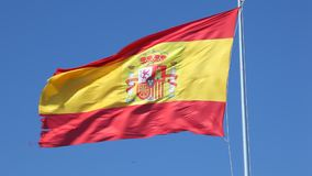 Spanish national flag stock footage