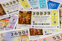 Spanish national lottery background Stock Images