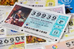 Spanish national lottery tenth background Royalty Free Stock Images