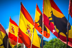 Spanish national official flags. Patriotic symbol Stock Image