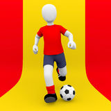 Spanish national selection soccer player Royalty Free Stock Images