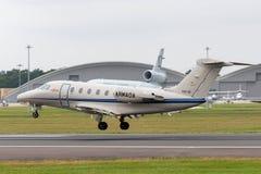 Spanish Navy Armada Española Cessna Citation Cessna 650 VIP transport aircraft U21-01 royalty free stock images