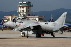 Spanish Navy AV-8B Harrier jump jet Royalty Free Stock Photo