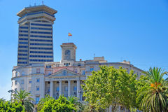 Spanish Navy Headquarters in Barcelona Stock Images