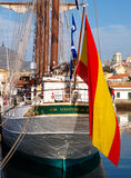 Spanish Navy Juan Sebastian de Elcano Stock Images