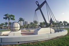 Spanish Navy Memorial at Bayside Park, Miami, Florida Royalty Free Stock Image