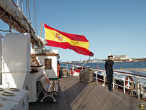 Spanish navy ship Stock Photography